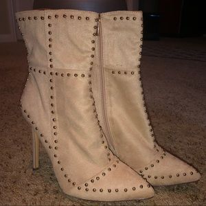 Forever 21 sueded studded bootie